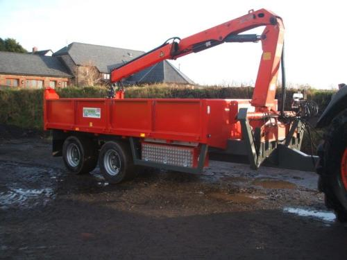 Dump Trailer with Hiab